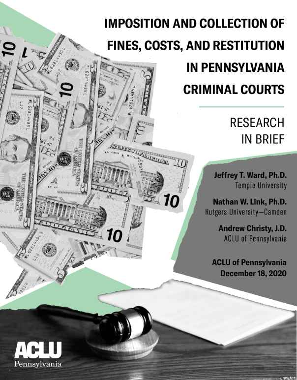 Imposition and Collection of Fines, Costs, and Restitution in Pennsylvania Criminal Courts: Research in Brief