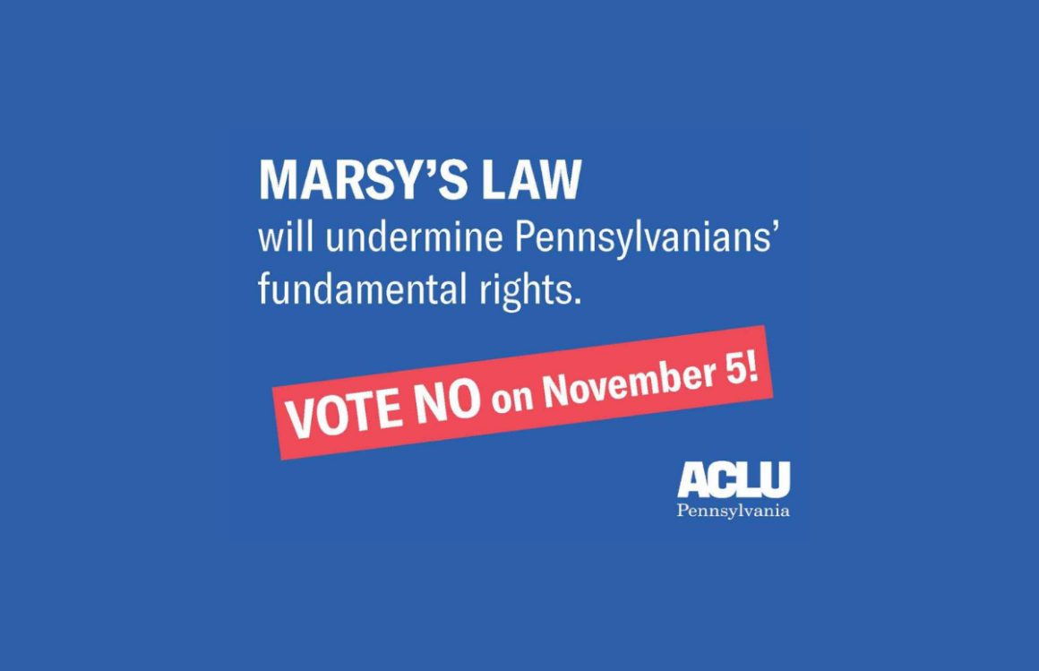 ACLU-PA Bill Page | Marsy's Law